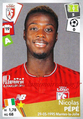 2017-18 - Panini Ligue 1 Stickers - N° 175 - Nicolas PEPE (Lille)