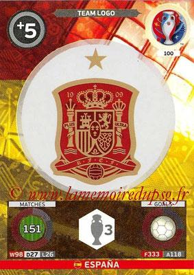 Panini Euro 2016 Cards - N° 100 - Logo Espagne (Team Logo)