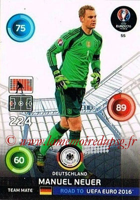 Panini Road to Euro 2016 Cards - N° 055 - Manuel NEUER (Allemagne)
