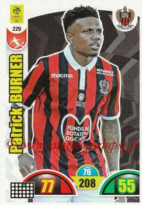 2018-19 - Panini Adrenalyn XL Ligue 1 - N° 229 - Patrick BURNER (Nice)