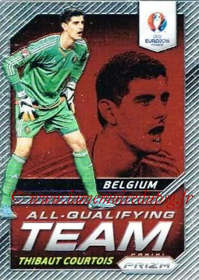 Euro 2016 Panini Prizm - N° AQ-01 - Thibaut COURTOIS (Belgique) (All-Qualifying Team)