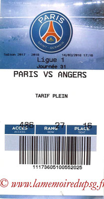 Tickets  PSG-Angers  2017-18