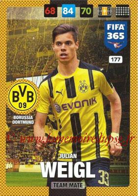 2016-17 - Panini Adrenalyn XL FIFA 365 - N° 177 - Julian WEIGL (Borussia Dortmund)