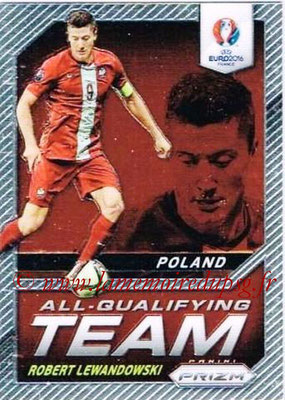 Euro 2016 Panini Prizm - N° AQ-10 - Robert LEWANDOWSKI (Pologne) (All-Qualifying Team)