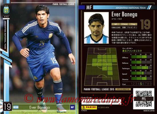 Panini Football League 2015 - PFL13 - N° 093 - Ever BANEGA (Argentine)