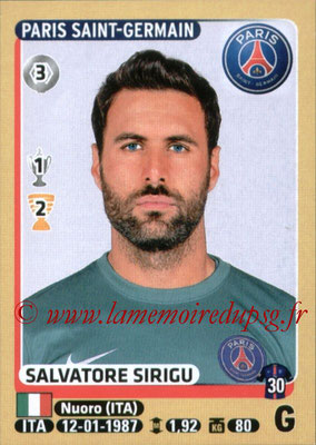 2015-16 - Panini Ligue 1 Stickers - N° 338 - Salvatore SIRIGU (Paris Saint-Germain)