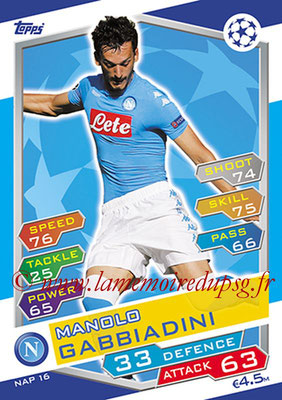 2016-17 - Topps UEFA Champions League Match Attax - N° NAP16 - Manolo GABBIADINI (SSC Naples)