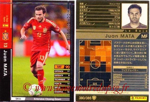2013-14 - WCCF - N° 380 - Juan MATA (Espagne)