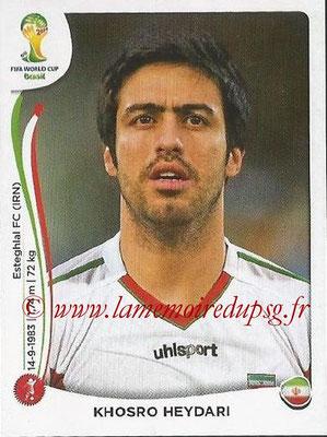 2014 - Panini FIFA World Cup Brazil Stickers - N° 454 - Khosro HEYDARI (Iran)