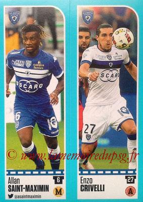 2016-17 - Panini Ligue 1 Stickers - N° 060 + 061 - Allan SAINT-MAXIMIN + Enzo CRIVELLI (Bastia)