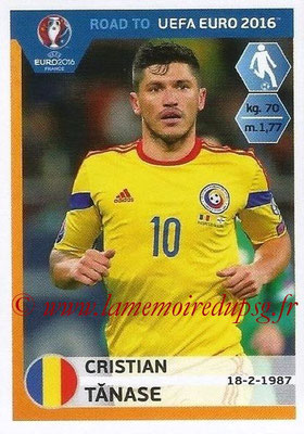 Panini Road to Euro 2016 Stickers - N° 248 - Cristian TANASE (Roumanie)