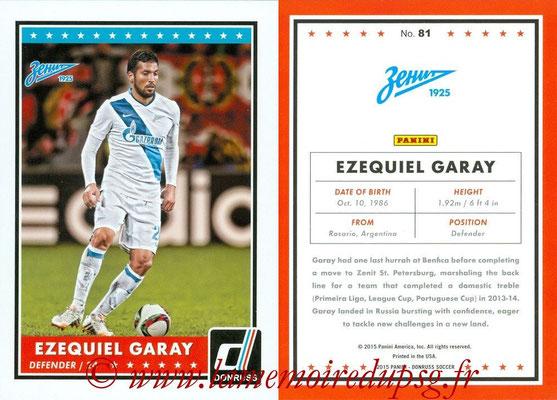2015 - Panini Donruss Soccer - N° 081 - Ezequiel GARAY (FC Zenit)