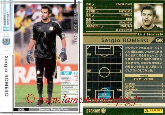 2013-14 - WCCF - N° 273 - Sergio ROMERO (Argentine)