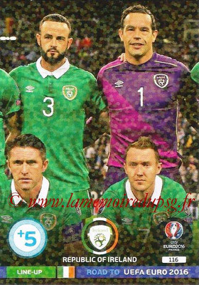 Panini Road to Euro 2016 Cards - N° 116 - Equipe Eire 2