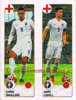 Panini Euro 2016 Stickers - N° 151 - Chris SMALLING + Gary CAHILL (Angleterre)