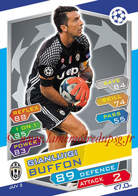 2016-17 - Topps UEFA Champions League Match Attax - N° JUV2 - Gianluigi BUFFON (Juventus FC)