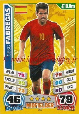 Topps Match Attax England 2014 - N° 212 - Cesc FABREGAS (Espagne)