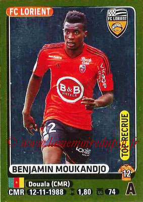 2015-16 - Panini Ligue 1 Stickers - N° 192 - Benjamin MOUKANDJO (FC Lorient) (Top recrue)