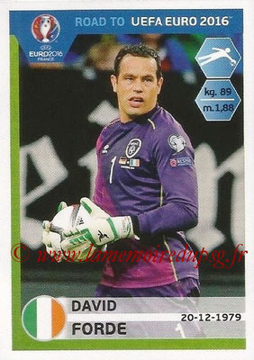 Panini Road to Euro 2016 Stickers - N° 145 - David FORDE (Eire)