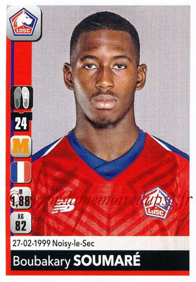 2018-19 - Panini Ligue 1 Stickers - N° 163 - Boubakary SOUMARE (Lille)