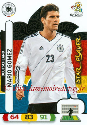 Panini Euro 2012 Cards Adrenalyn XL - N° 041 - Mario GOMEZ (Allemagne) (Star Player)
