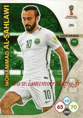2018 - Panini FIFA World Cup Russia Adrenalyn XL - N° 216 - Mohammed AL-SAHLAWI (Arabie Saoudite)