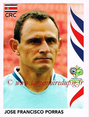 2006 - Panini FIFA World Cup Germany Stickers - N° 038 - Jose Francisco PORRAS (Costa Rica)