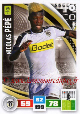 2016-17 - Panini Adrenalyn XL Ligue 1 - N° 016 - Nicolas PEPE (Angers)