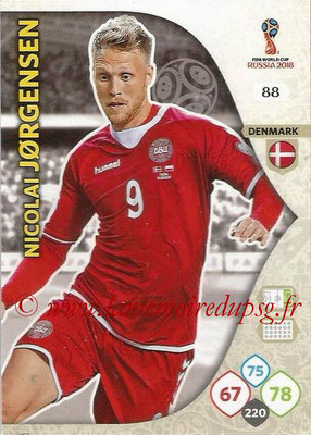 2018 - Panini FIFA World Cup Russia Adrenalyn XL - N° 088 - Nicolai JORGENSEN (Danemark)