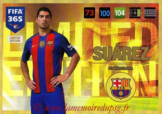 2016-17 - Panini Adrenalyn XL FIFA 365 - N° LE11 - Luiz SUAREZ (FC Barcelone) (Limited Edition)