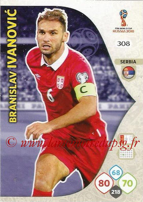 2018 - Panini FIFA World Cup Russia Adrenalyn XL - N° 308 - Branislav IVANOVIC (Serbie)