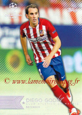 2015-16 - Topps UEFA Champions League Showcase Soccer - N° 061 - Diego GODIN (Club Atletico de Madrid)