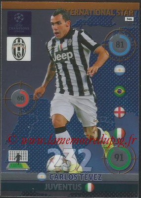 2014-15 - Adrenalyn XL champions League N° 346 - Carlos TEVEZ (Juventus) (International Star)