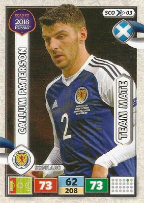 2018 - Panini Road to FIFA World Cup Russia Adrenalyn XL - N° SCO03 - Callum PATERSON (Ecosse) (UK Version)