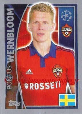 2015-16 - Topps UEFA Champions League Stickers - N° 126 - Pontus WERNBLOOM (CSKA Moscou)