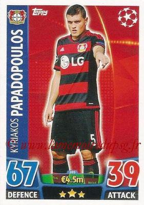 2015-16 - Topps UEFA Champions League Match Attax - N° 205 - Kyriakos PAPADOPOULOS (Bayer 04 Leverkusen)