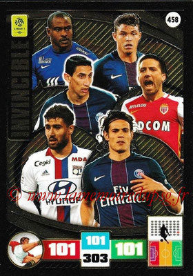 2016-17 - Panini Adrenalyn XL Ligue 1 - N° 458 - Thiago SILVA + Angel DI MARIA + Edinson CAVANI (Paris Saint-Germain) (Invincible)