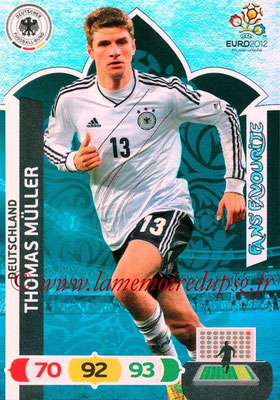 Panini Euro 2012 Cards Adrenalyn XL - N° 245 - Thomas MÜLLER (Allemagne) (Fans' Favourite)