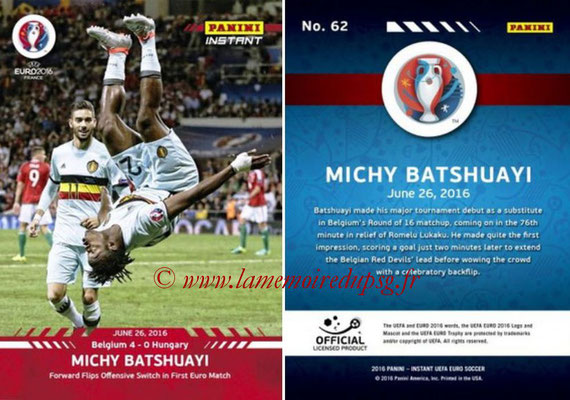Panini Instant Euro 2016 - N° 062 - Michy BATSHUAYI