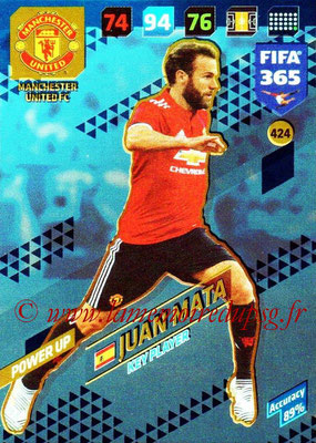 2017-18 - Panini FIFA 365 Cards - N° 424 - Juan MATA (Manchester United) (Key Player)