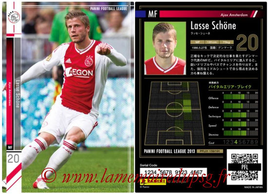 Panini Football League 2013 - PFL01 - N° 159 - Lasse Schone ( Ajax Amsterdam )