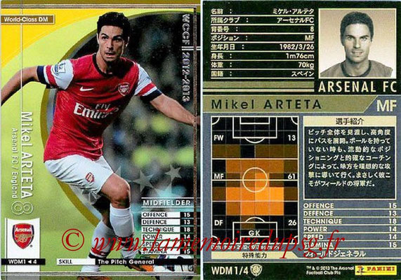 N° WDM1 - Mikel ARTETA (Janv 2001-02, PSG > 2012-13, Arsenal, ANG) (World Class DM)