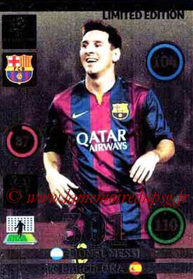 2014-15 - Adrenalyn XL champions League N° LE-LM - Lionel MESSI (FC Barcelone) (Limited Edition)