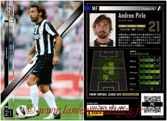 Panini Football League 2013 - PFL01 - N° 019 - Andrea Pirlo ( Juventus FC )