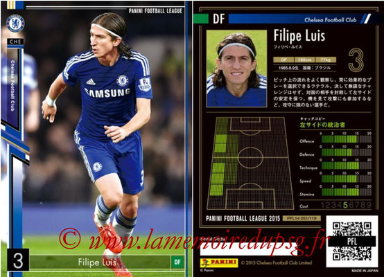 Panini Football League 2015 - PFL14 - N° 051 - Filipe LUIS (Chelsea FC)
