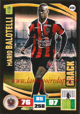2016-17 - Panini Adrenalyn XL Ligue 1 - N° 450 - Mario BALOTELLI (Nice) (Crack)