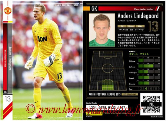 Panini Football League 2013 - PFL02 - N° 057 - Anders Lindegaard ( Manchester United  )