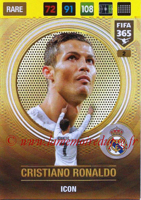 2016-17 - Panini Adrenalyn XL FIFA 365 - N° 002 - Cristiano RONALDO (Real Madrid CF) (Icon)