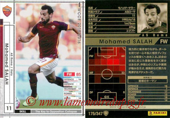 2015-16 - Panini WCCF - N° 175 - Mohamed SALAH (AS Roma)