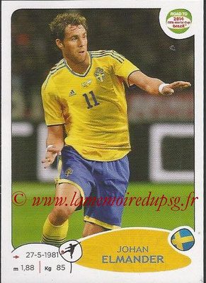 2014 - Panini Road to FIFA World Cup Brazil Stickers - N° 351 - Johan ELMANDER (Suède)
